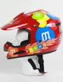 M&M Licensed Red MotoX Motorcycle Helmet