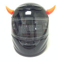 Rubber Motorcycle Helmet Horns - Orange