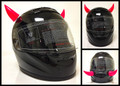Rubber Motorcycle Helmet Horns - Pink