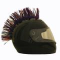 Multi Colored Motorcycle Helmet Mohawk