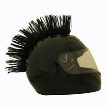 Black Motorcycle Helmet Mohawk