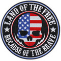 Land of the Free Skull Patch