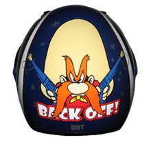 Yosemite Sam RZ3K  Back Off Licensed Kids Blue Full Face Motorcycle Helmet
