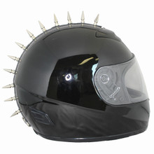 MOTORCYCLE HELMET MALTESE CROSS SPIKE STRIP MOHAWK