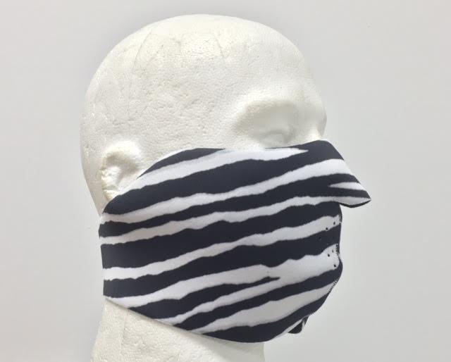 Half Zebra Neoprene Half Face Mask Neoprene Face Masks