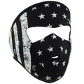 Face Mask -  Youth Black And White Flag