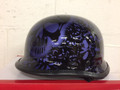 103BYP - DOT German BoneYard Purple Motorcycle Helmet
