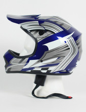 DOT ATV Dirt Bike MX Kids BlueG Motorcycle Helmet