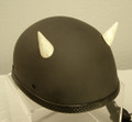 Bone Devil Motorcycle Helmet Horns Small Straight