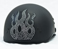 Rhinestone Helmet Patch - Flame