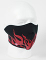 Face Mask - 1/2 Red Flames Neoprene