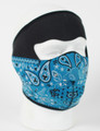 Face Mask - Blue Paisley Bandanna Neoprene