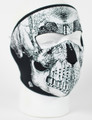 Face Mask - Neoprene Glow in the Dark, Blk & White Skull Face