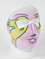 Face Mask - Ladies Pink Mardi Gras Neoprene