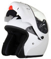 RODIA RF-4 WHITE MODULAR FULL FACE MOTORCYCLE HELMET