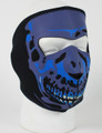 Face Mask - Blue Skull Neoprene