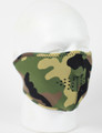Face Mask - 1/2 Woodland Camo Neoprene Face Mask