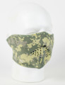 Face Mask - 1/2 Digital Green Camo Face Neoprene