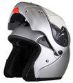 MODS - DOT Full Face Silver Modular Motorcycle Helmet