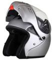MODS - DOT Full Face Silver Modular Motorcycle Helmet