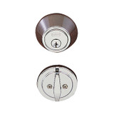 Chrome Single Cylinder Standard Deadbolt
