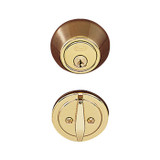 Polished Brass Single Cylinder Standard Deadbolt