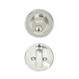 Chrome Single Cylinder Skyline Low Profile Deadbolt
