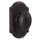 Molten Bronze Durham Reversible Dummy Door Knob with Premiere Rosette - Oil Rubbed Bronze