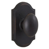 Molten Bronze Durham Reversible Privacy Door Knob with Premiere Rosette - Oil Rubbed Bronze