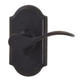 Molten Bronze Carlow Right Hand Dummy Door Lever with Premiere Rosette - Oil Rubbed Bronze