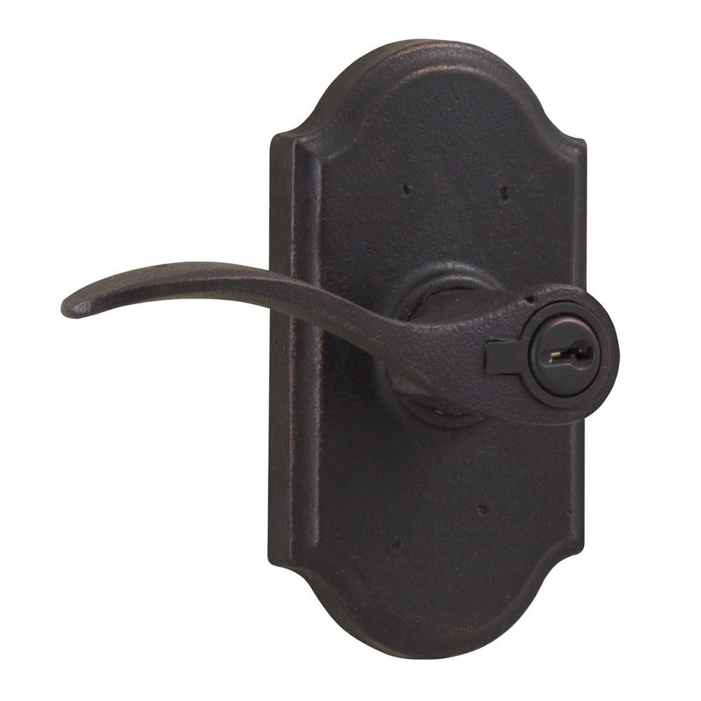 Molten Bronze Carlow Left Hand Keyed Entry Door Lever With Premiere