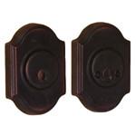 Molten Bronze Double Cylinder Deadbolt with Premiere Rosette - Oil Rubbed Bronze