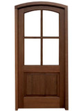 Mahogany Brentwood Single Door with Arch Top