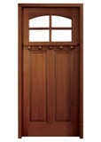 Mahogany Lakewood Single Door