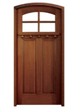 Mahogany Lakewood Single Door with Arch Top