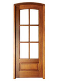 Mahogany Alexandria TDL 6LT 8/0 Single Door with Arch Top
