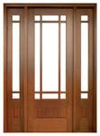 Mahogany Alexandria TDL 9LT 8/0 Single Door with 2 Sidelights
