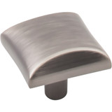 "Brushed Pewter 1"" Overall Length Square Cabinet Knob (525BNBDL) Elements Glendale Collection"