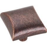 """Distressed Oil Rubbed Bronze 1"""" Overall Length Square Cabinet knob 82356 (525DMAC) Elements Glendale Collection"""