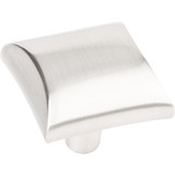 "Satin Nickel 1"" Overall Length Square Cabinet knob (525SN)-Elements Glendale Collection"