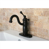 VICTORIAN MONO BLOCK bathroom Faucet (WASHERLESS) with BL handle, Oil Rubbed Bronze