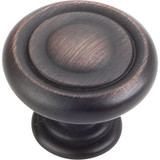"Brushed Oil Rubbed Bronze 1-1/4"" Bremen 1 Decorative Button Cabinet Knob (117DBAC)"