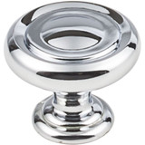 "Polished Chrome 1-1/4"" Bremen 1 Decorative Button Cabinet Knob (117PC)"