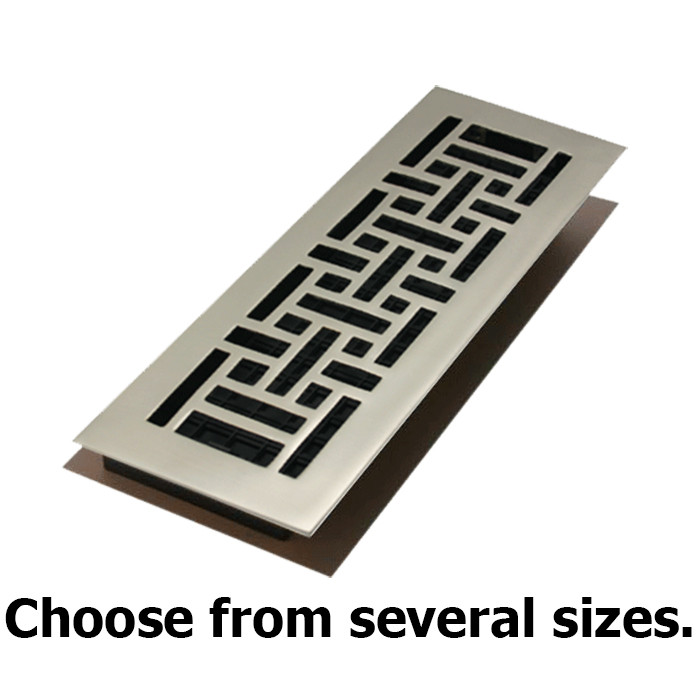 Floor Register Grates Satin Nickel Contemporary Design