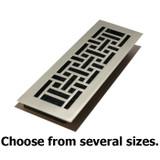 Brushed Nickel Oriental Steel Floor Register