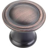 """Brushed Oil Rubbed Bronze 1-3/16"""" Cordova Decorative Cabinet Knob (Z110-DBAC)"""