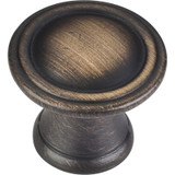 "Antique Brushed Satin Brass 1-3/16"" Cordova Decorative Cabinet Knob (Z110-ABSB)"