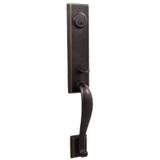 Molten Bronze Greystone Front Door Handleset - Oil Rubbed Bronze by Weslock