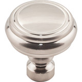 Brixton Rimmed Knob 1 1/4 Inch - Brushed Satin Nickel Interior Modern Shed Kitchen Bathroom Door Metal Knob Lock Hardware