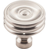 Brixton Ridged Knob 1 1/4 Inch - Brushed Satin Nickel Interior Modern Shed Kitchen Bathroom Door Metal Knob Lock Hardware